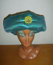 Homme Vert Oriental Chapeau Arabian Nights Arabe Aladdin Cheikh taille L/XL robe fantaisie