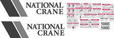 National Crane 500E Boom Truck Decal Kit