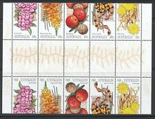 Australian Stamps: 2002 Bush Tucker - Gutter Strip of 10