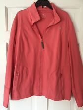 Talbots Coral Zip Front Stretch Track Jacket XL