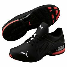 Puma Vizrunner Men's Running Shoes Sneakers, Black/Red, Size 9.5