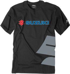 Factory Effex Suzuki Big S Black T Shirt Motorcycle Racing T-shirt Tee
