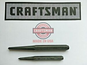 $COMBO$ CRAFTSMAN 42862 1/2 Center Punch & 42841 3/8 Prick Punch  MADE IN USA