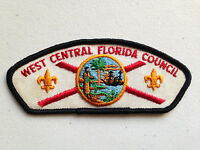 BOY SCOUT BSA CSP COUNCIL PATCH WEST CENTRAL FLORIDA CLOTH BACK NEW WORLD