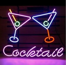 "New Cocktails Martini Logo Neon Light Sign 17""x14"""