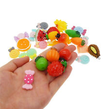 20 pcs Mix Resin Candies Fruits Charms Pendants Findings DIY Jewelry Making
