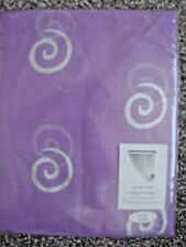 """Modern Delicate LILAC Slot Top Voile With SILVER Swirl. 59"""" X  48"""" Long. NEW!"""