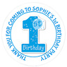 48 Personalised Party Bag Stickers 1st Birthday Sweet Bag Seals 40mm Labels