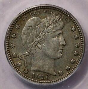 1916-D Barber Quarter ICG AU50 Sweet original coin!