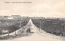 6748) LUCERA (FOGGIA) PANORAMA VISTO DALLA STAZIONE.  VIAGGIATA NEL 1920.