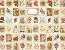 """Jodielee Portfolio """"Nostalgie-Collage"""": Mappe im Briefmarkenlook für DIN A6"""