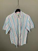 LACOSTE SHORT SLEEVE Shirt - Size Large - Striped - Great Condition - Men's