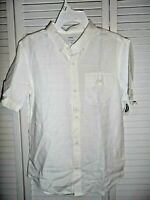 Great Old Navy boys size XL 14 16 white short sleeve button up shirt NWT