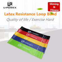 Set of 5 Natural Latex Resistance Loop Bands Exercise Premium Home Gym Fitness