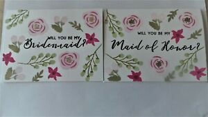 Will you be my bridesmaid, maid of honour Proposal Card