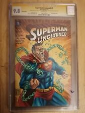 Superman Unchained #9 CGC SS 9.8. Signed & Sketched by Savy Lim. Clrd by...