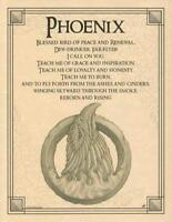 Phoenix Parchment Page for Book of Shadows, Altar!
