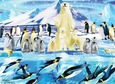 Jigsaw Puzzle Animal Polar Bear Penguin Plunge 100 pieces NEW Made in USA