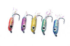 5 pcs/lot Saltwater Lure Bait Weight Wet Fly Fishing Surf Candy Flies Lures Set