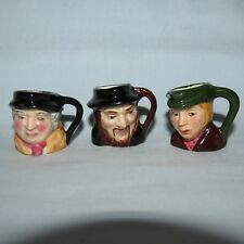 INSTANT COLLECTION 3 ARTONE ENGLAND DICKENS TINY CHARACTER JUGS