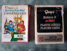 Vintage Ripleys Believe it or Not card lot