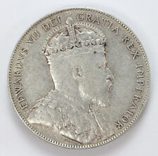 1909 Canada New Foundland Silver 50 Cents Edward VII KM11 - CH VF #01307873g