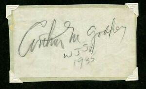 Autographié Papier Iconique Radio Et Télévision Diffuseur Arthur Godfrey 1935