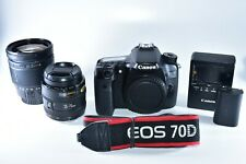 Canon EOS 70D 20.2MP Digital SLR Camera With 35-70mm & 28-200mm Zoom Lenses