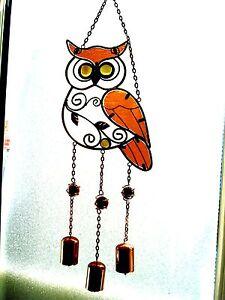 * UNIQUE HANDMADE FAIRTRADE OWL WINDCHIME/ SUNCATCHER * Hang anywhere.