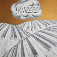 Vintage pencil & gouache painting poster jazz music