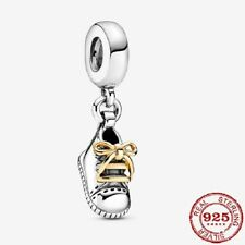 New 925 sterling silver Beads Lovely Baby Shoe Charm Fiit Original Pandora brace