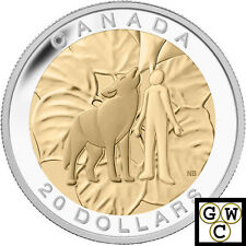 2014 Humility-7 Sacred Teachings Gold-Plated Proof $20 Silver Coin .9999 (14036)