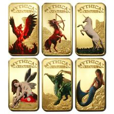 Somali Rep Mystical Creatures 25 Shillings 2013 Gold-plated Colored 6 Bar Set