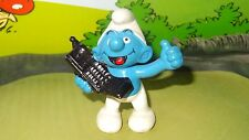 Smurfs Mobile Phone Smurf Chat on Black Cell Vintage Rare Display 1996 Figurine