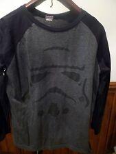Men's XL 46-48 T Shirt STAR WARs Black Gray 3/4 sleeved