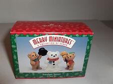 Snowbear Season`1997`Merry Miniatures-Set Of 3 Hallmark Ornaments Set->New<-