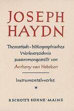 Haydn Thematic Catalog Vol. 1 by Anthony Van Hoboken (Hardback, 1981)