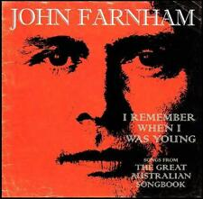 JOHN FARNHAM - I REMEMBER WHEN I WAS YOUNG : GREAT AUSTRALIAN SONGBOOK CD *NEW*