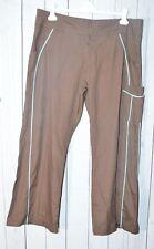 Urbane Scrubs Women's Brown Teal Scrub Pants XL