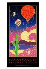 "4""x6"" Postcard Poster card 18th Albuquerque Balloon Fiesta 1989 Hot Air Repro NM"