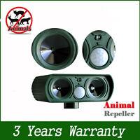 New Ultrasonic Solar Power Pest Animal Repeller Garden Bat Cat Dog Foxes UR