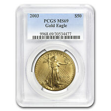 2003 1 oz Gold American Eagle MS-69 PCGS - SKU #7652