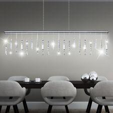 LED Hänge Decken Leuchte Dielen Pendel Lampe Kristall Kronleuchter Touch Dimmer