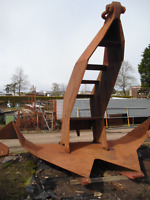 3.3 tonnes Bruce Large Used  Anchor Good Condition for Boat Ship or Ornament