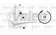 VALEO Motor de arranque 2,4kW 12V RENAULT LAGUNA OPEL ASTRA CORSA COMBO 458178