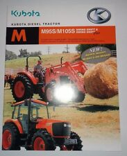Kubota Dealers M95S & M105S Tractor Sales Brochure literature ad advertising