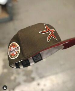 HAT CLUB EXCLUSIVE NEW ERA HOUSTON ASTROS 45th PATCH BRICK UV 7 3/8