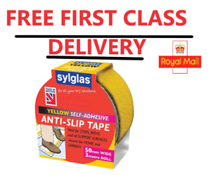 Sylglas SYLASTY Anti-Slip Tape 50mm x 3m Yellow FREE FIRST CLASS DELIVERY