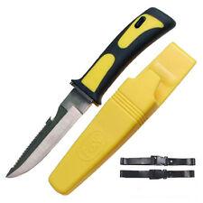 Tauchermesser bunte Farbe gelb Beinholster Taucher Messer Anglermesser Survival