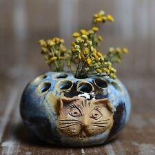Cat Vase   Pen Holder   Made in Maine   Pottery for Everyday Use   Desk Art